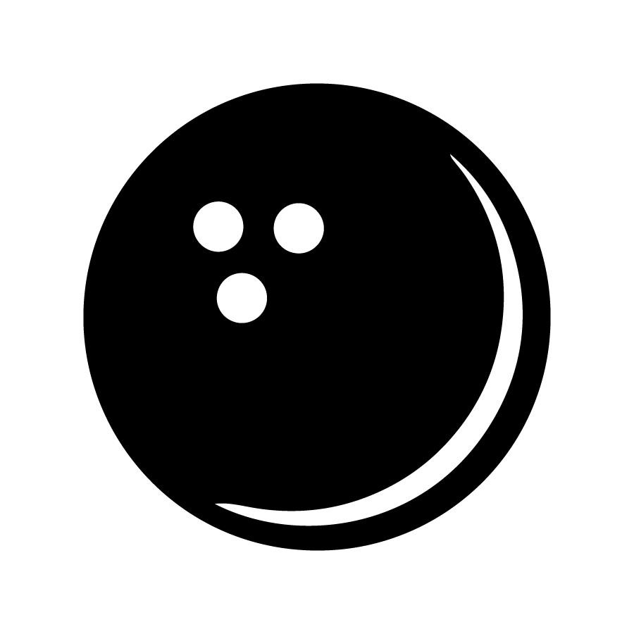 bowling ball silhouette