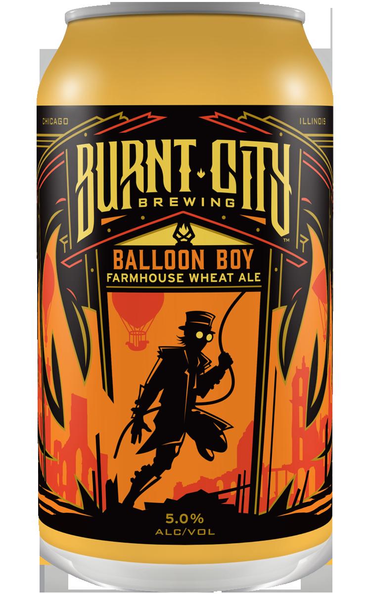 Burnt City Brewing Balloon Boy Farmhouse Wheat Ale can