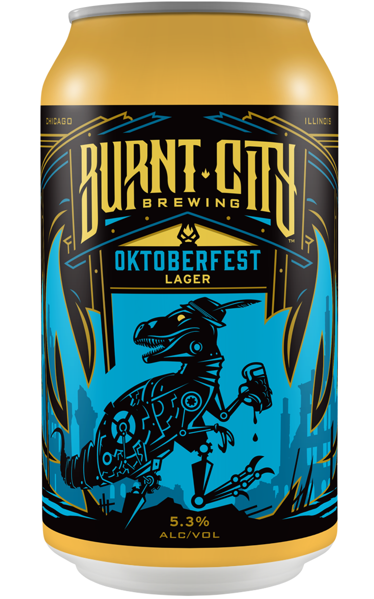 Burnt City Brewing Oktoberfest Lager can