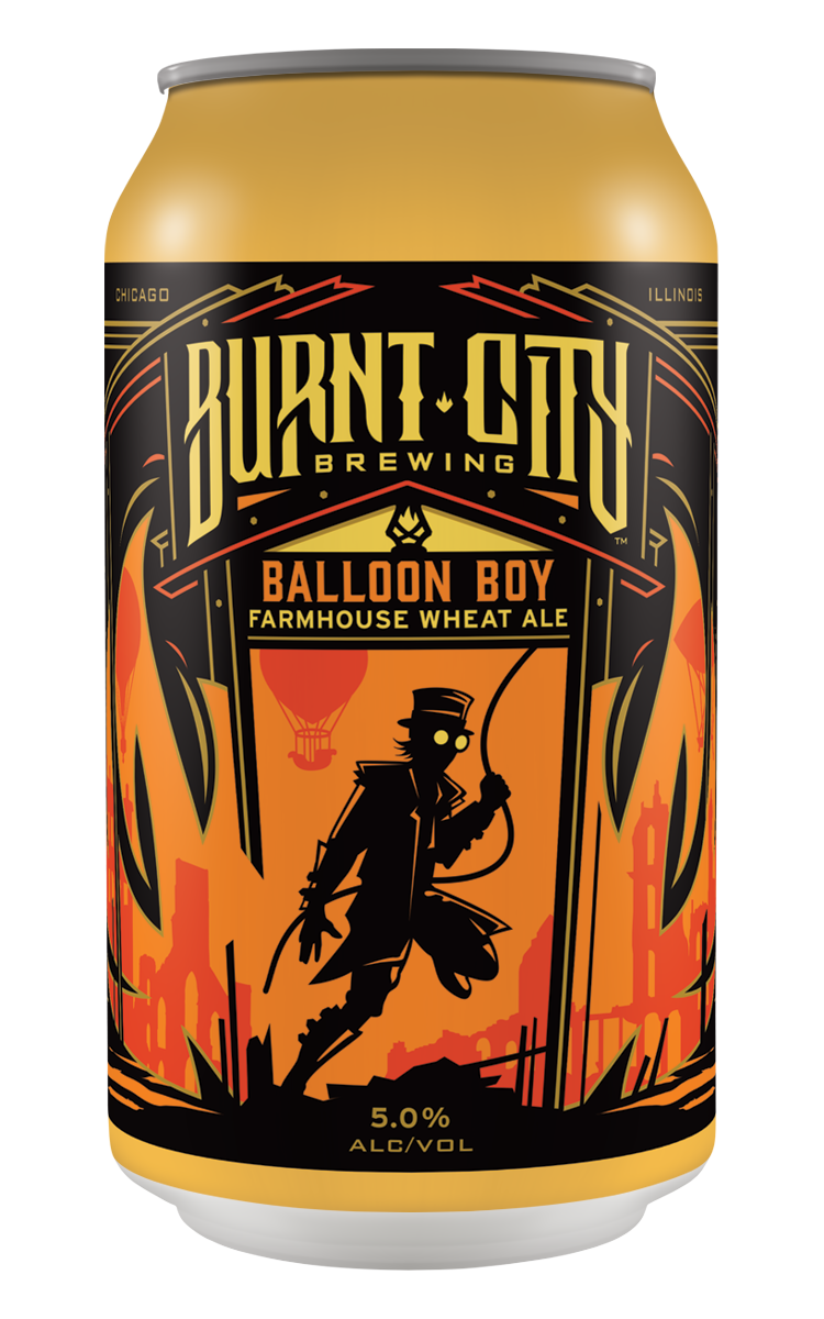 Burnt City Brewing's Balloon Boy Farmhouse Wheat Ale can