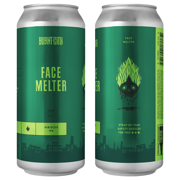 Burnt City Brewing Face Melter Hibiscus IPA can