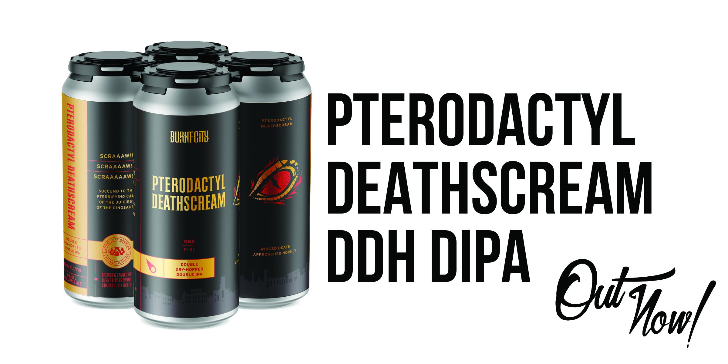 Pterodactyl Deathscream Double Dry-Hopped DIPA 16oz 4pks.