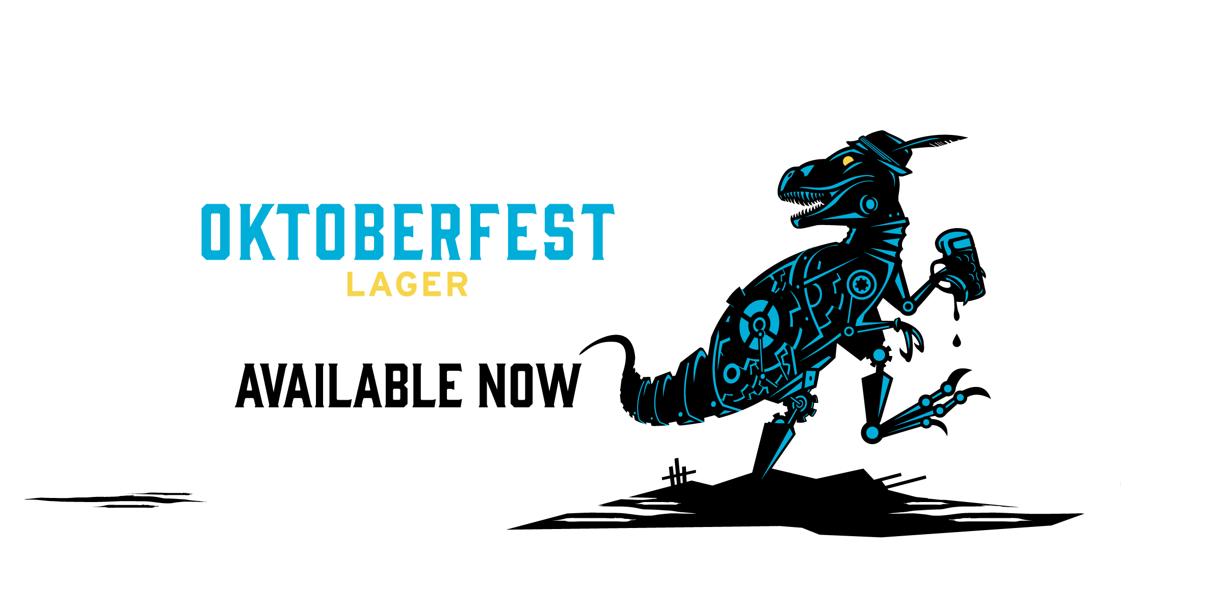 Oktober Rex ushers in the arrival of Oktoberfest Lager. Available Now.